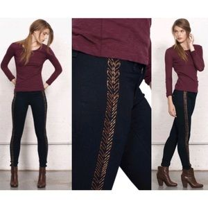 Rag and Bone The Bengal Embroidered Skinny Jeans